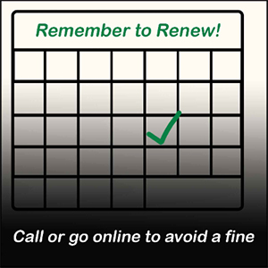 Remember to Renew